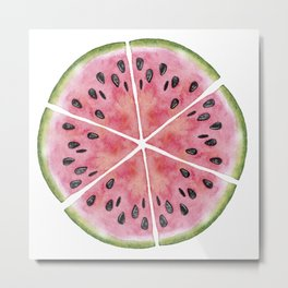 Watermelon Pie Metal Print