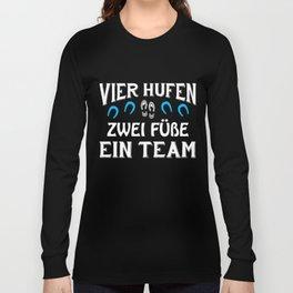 Reiten Pferde Geschenke Reiter Pferde Hufe Liebe Long Sleeve T-shirt