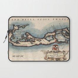 Vintage Map of Bermuda (1694) Laptop Sleeve