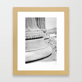 Athen's Column  Framed Art Print
