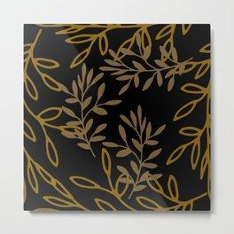 Leafy Brown Metal Print