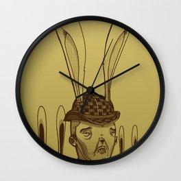 The Rabbit Man Wall Clock