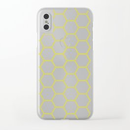 Honeycomb Yellow #164 Clear iPhone Case