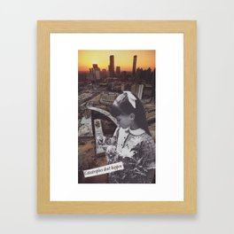 Disasters are pretend Framed Art Print
