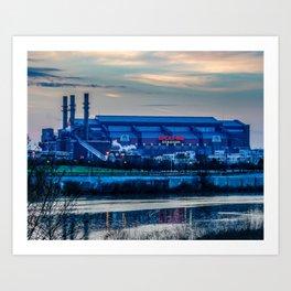 Indy's Lucas Oil Stadium Near the White River Art Print