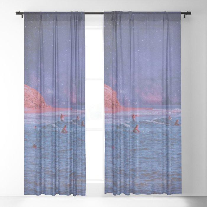 Surf Town Sheer Curtain