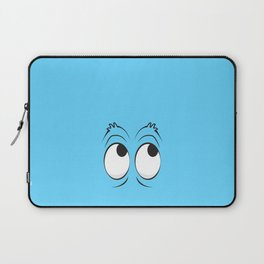 Monster Eyes Blue Laptop Sleeve