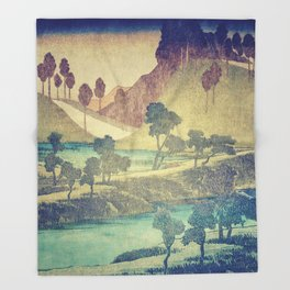 A Valley in the Evening Throw Blanket
