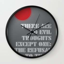Refusal to Think Wall Clock