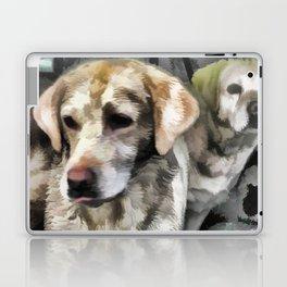 Labradors fun in the mud Laptop & iPad Skin