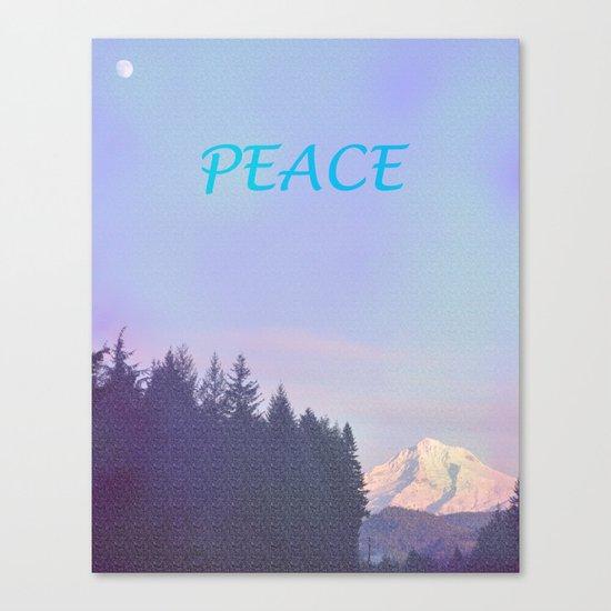 PEACE ON MOUNT HOOD Canvas Print