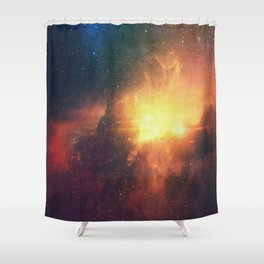 Wonderful Endless Intergalactic Dust - Fatansy Galaxy Space Shower Curtain