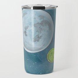 Haruki Murakami's 1Q84 Watercolor Illustration Travel Mug