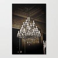 chandelier Canvas Prints featuring chandelier  by Ammar ZABOUN