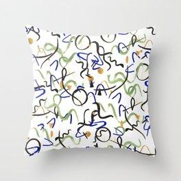 Miro fog Throw Pillow
