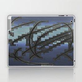 Abstract Blue Metallic Look Laptop & iPad Skin
