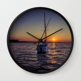 A day's end Wall Clock