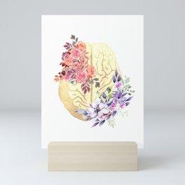Floral Brain Anatomy  Mini Art Print