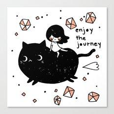 enjoy the journey Canvas Print