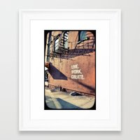 brooklyn Framed Art Prints featuring Brooklyn by Lorenza D. Walker