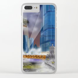 Windy City (Steampunked) Clear iPhone Case