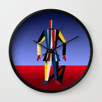 soldier Wall Clocks featuring TIN SOLDIER by THE USUAL DESIGNERS