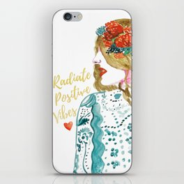 Radiate Positive Vibes iPhone Skin
