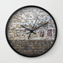 Brick Wall Wall Clock