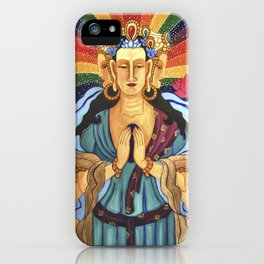 Buddha of Compassion iPhone Case