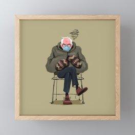 Miffed Mitten Bernie Framed Mini Art Print