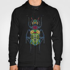 flower beetle turquoise Hoody