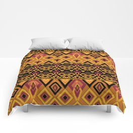 Yellow plaid. The creative pattern . Comforters
