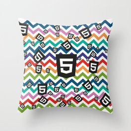 HTML5 WEBSITE DEVELOPMENT CODING PATTERN Throw Pillow