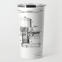Espresso Machine Patent Artwork Travel Mug
