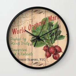 Market Sign 4 Wall Clock