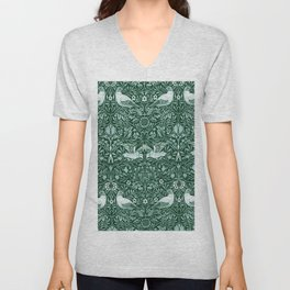 "William Morris ""Birds"" 6. Unisex V-Neck"