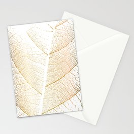 Gold Leaf Skeleton Tropical Abstract Botanical Boho Luxury  Stationery Cards