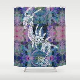 Frankie Floral Leafy Sea Dragon Shower Curtain