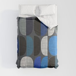 Mo Moons Blue Comforters