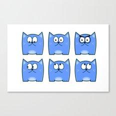 Cat Expressions Canvas Print