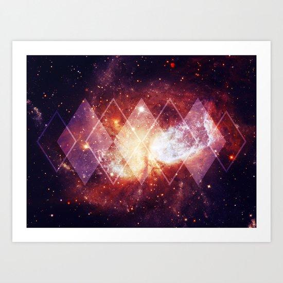 Shining Nebula - Red Art Print