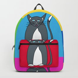 Odd Kitty Out - Tabby Cat Pattern Backpack