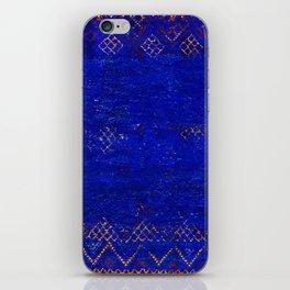 V11 Calm Blue Printed of Original Traditional Moroccan Carpet iPhone Skin