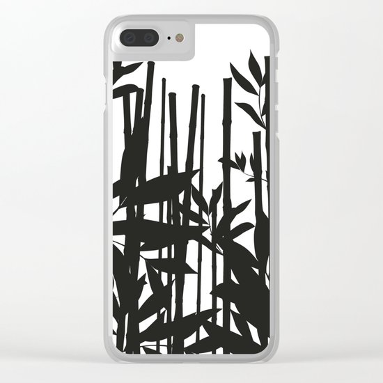 Black Bamboo Clear iPhone Case