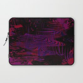 Disoriented Palette; Pink, Black and Purple Laptop Sleeve