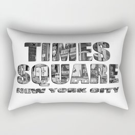 Times Square New York City (B&W photo filled flat type) Rectangular Pillow