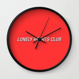 Shadow Type Lonely Hearts Club Wall Clock