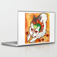 okami Laptop & iPad Skins featuring Amaterasu from Okami 03 by Jazmine Phillips