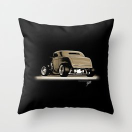 1932 Ford Hot Road Sepia Throw Pillow