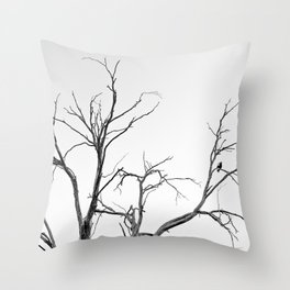 Beautiful Past Trees Throw Pillow